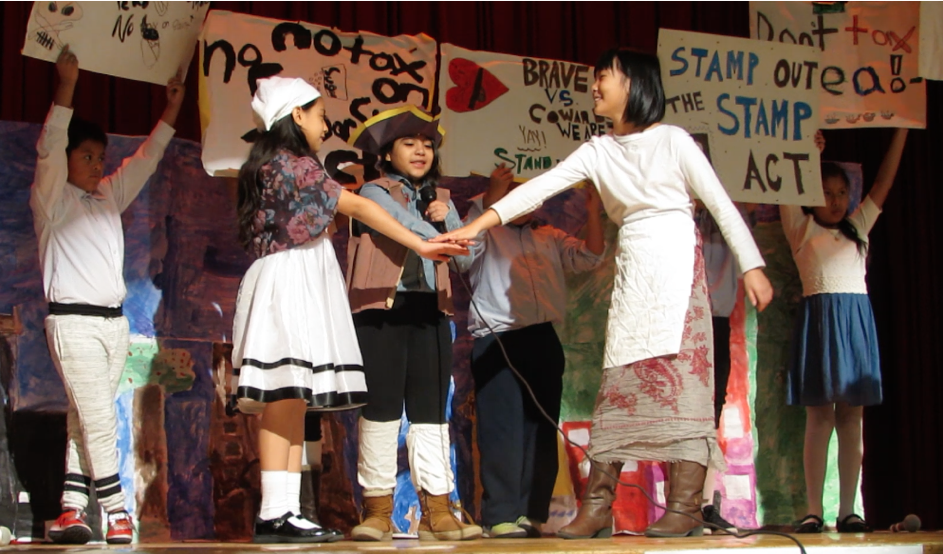 Kids on Stage in a Play