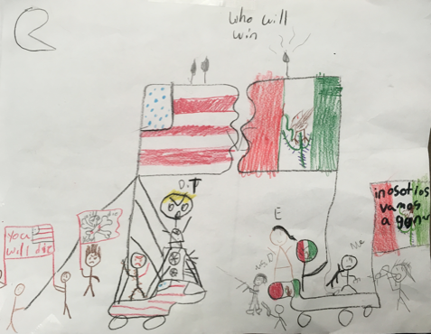 Child Drawing of War - TCICP