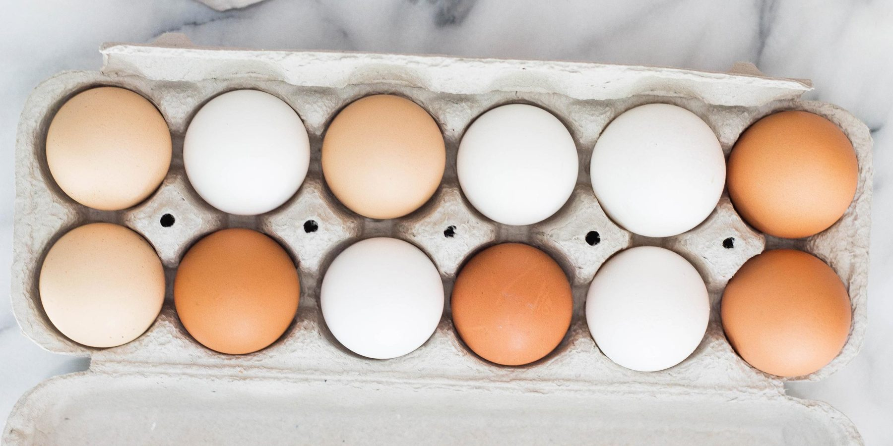 Multi Colored Eggs in their Carton